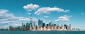 Panorama Downtown Manhattan Jersey City to New York