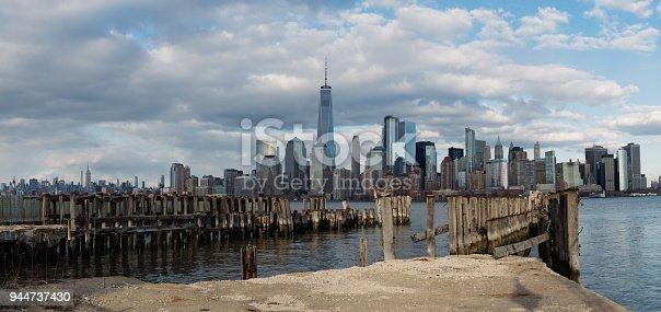 910867946 istock photo Panorama Downtown Manhattan Jersey City to New York 944737430
