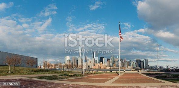910867946 istock photo Panorama Downtown Manhattan Jersey City to New York 944737432