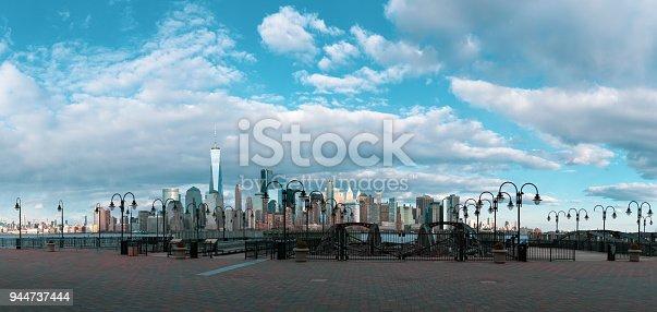 910867946 istock photo Panorama Downtown Manhattan Jersey City to New York 944737444