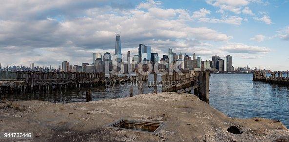 910867946 istock photo Panorama Downtown Manhattan Jersey City to New York 944737446