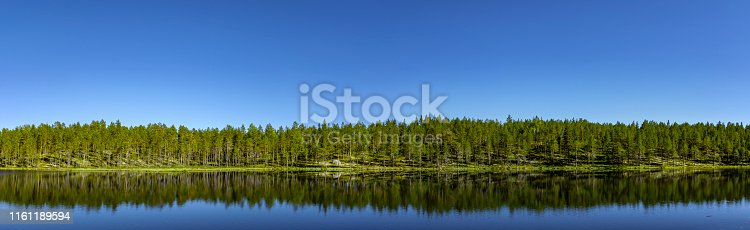 Panorama Femund lake in Hedmark Norway
