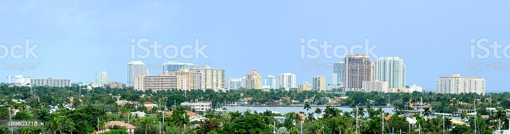 Panorama Fort Lauderdale, Florida, USA stock photo