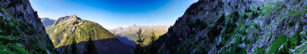 Panorama - French Alps - Massif of belledonne stock photo