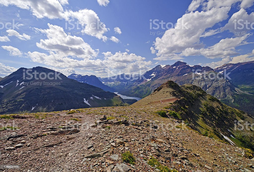 Panorama from an alpine trail royalty-free stock photo