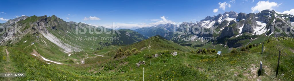 Panorama from Col de Cou is a known bird migration route.