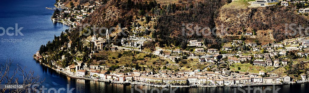 panorama from morcote royalty-free stock photo