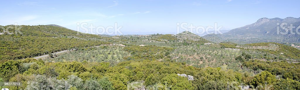 Panorama from Peloponnese, Greece royalty-free stock photo