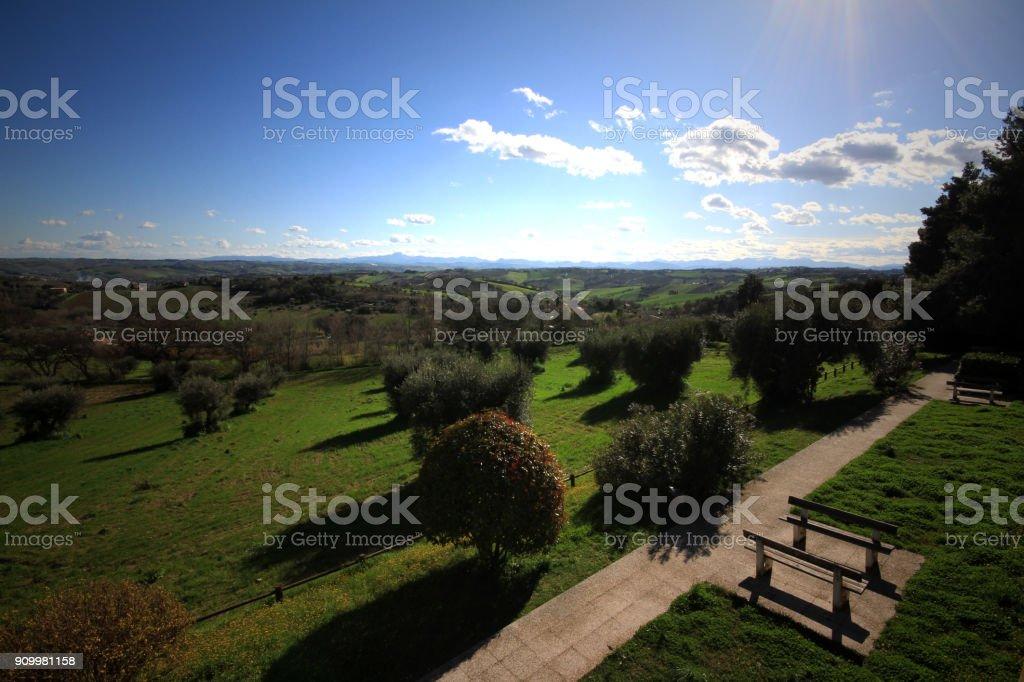 panorama from Senigallia's hills - Italy stock photo