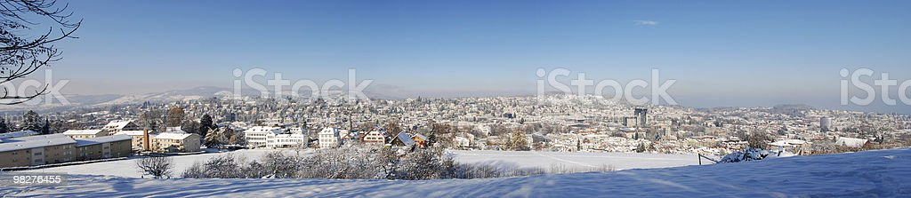 XXL panorama dal St.Gallen, in inverno, Svizzera foto stock royalty-free