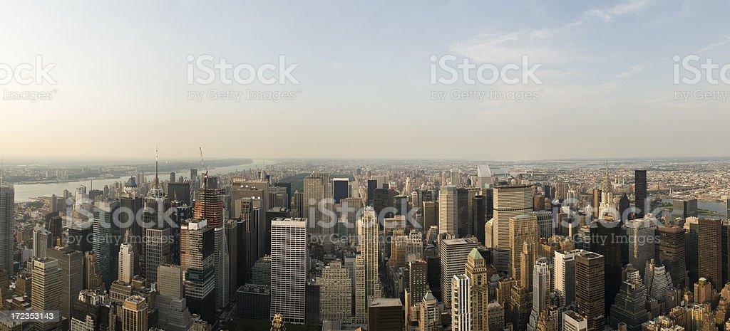 Panorama from the Empire State royalty-free stock photo
