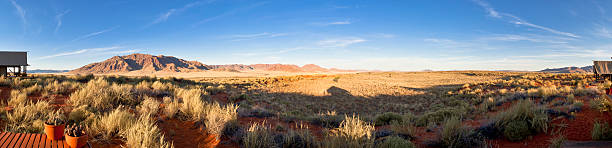 panorama from the namib desert stock photo