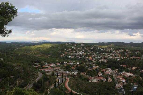 Panorama desde Vespella, Cataluña, España - foto de stock