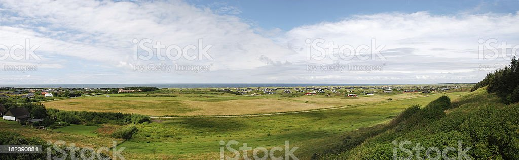 Panorama from west coast of denmark on a sunny day royalty-free stock photo