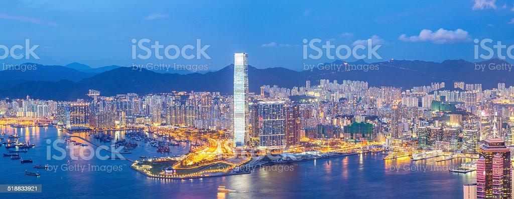 Panorama Hong Kong Skyline stock photo