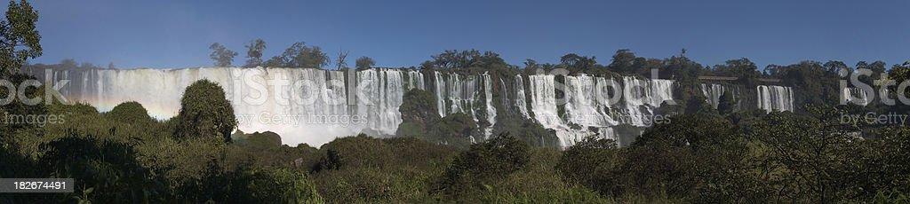 Panorama Iguazu Waterfalls royalty-free stock photo