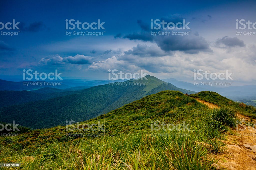 Panorama in Bieszczady Nationalpark. – Foto