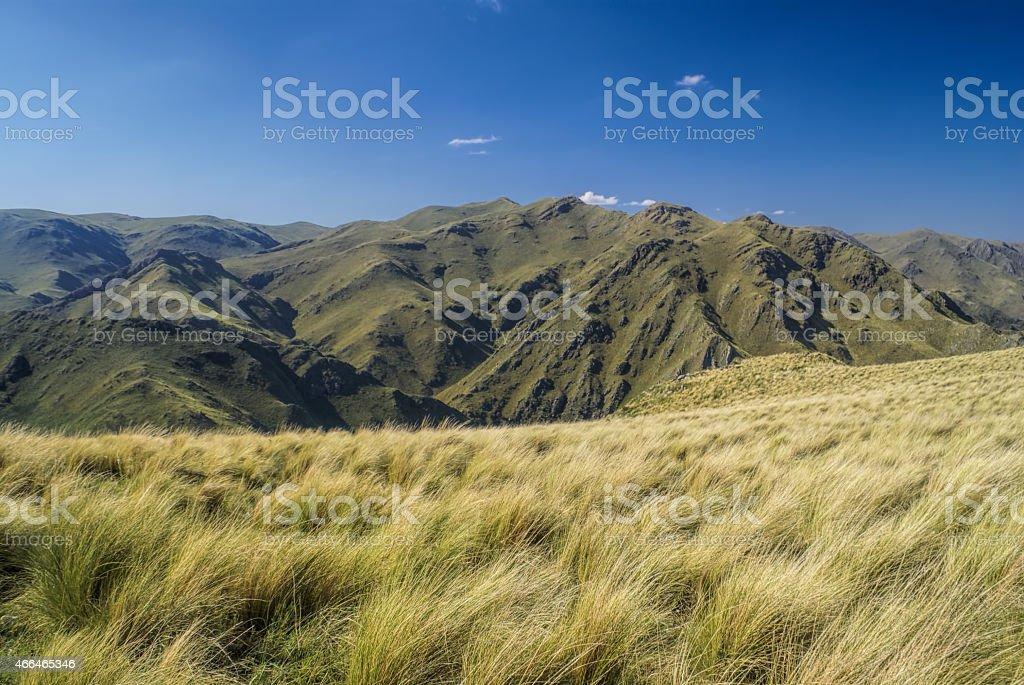 Panorama in Capilla del Monte stock photo