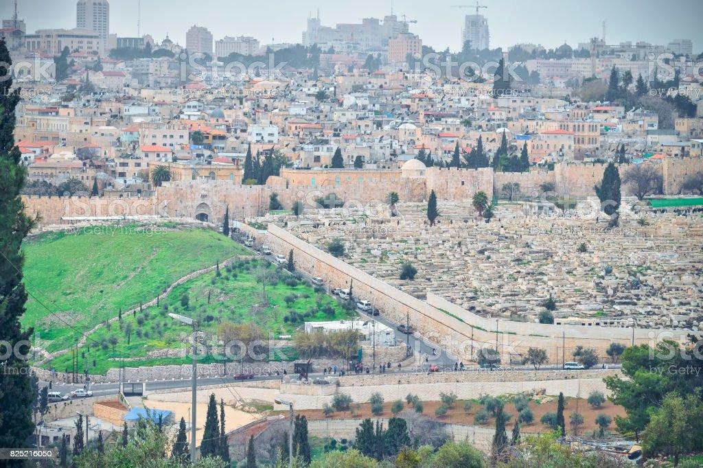 Panorama in Jerusalem stock photo