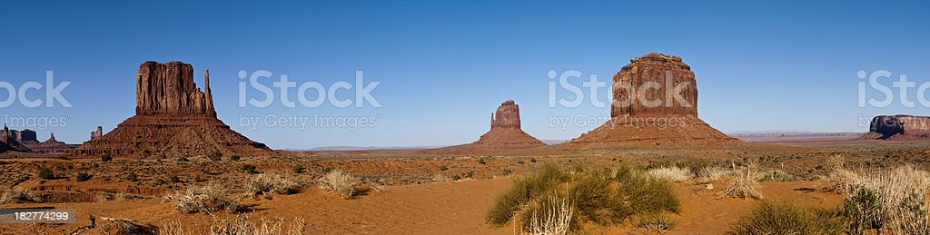 Panorama in Monument Valley, Arizona royalty-free stock photo