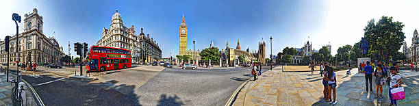 Panorama in Parliament Square stock photo