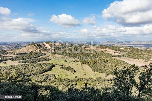 Paysage encore vert en Espagne