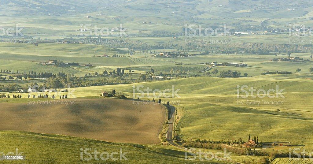 Panorama in Tuscany royalty-free stock photo