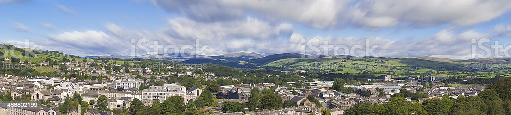 Panorama Kendal, England stock photo