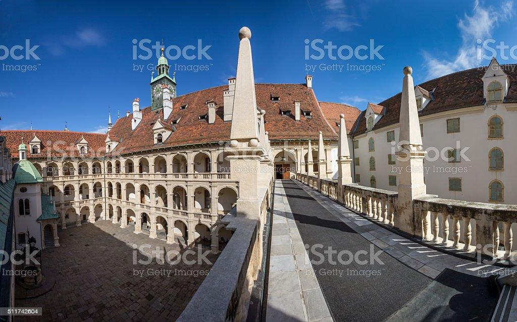 panorama landhaus graz stock photo