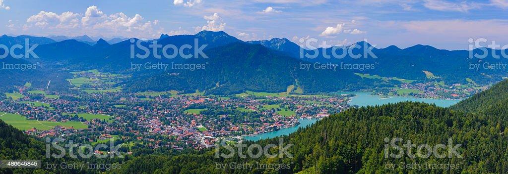 panorama landscape in Bavaria stock photo