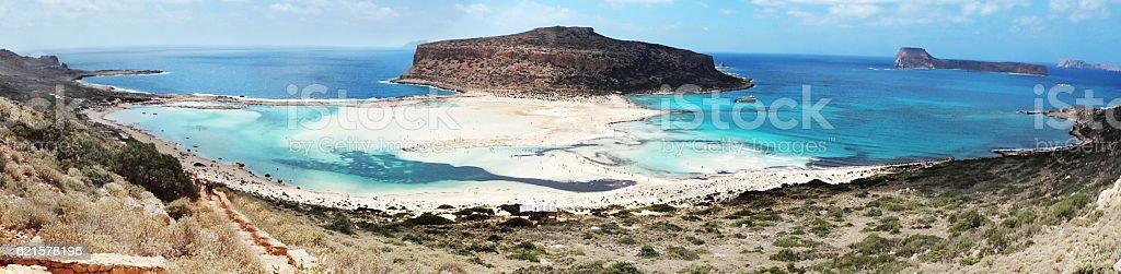 panorama d'un paysage de mer de l'île de Crète en Grèce meditrannean photo libre de droits