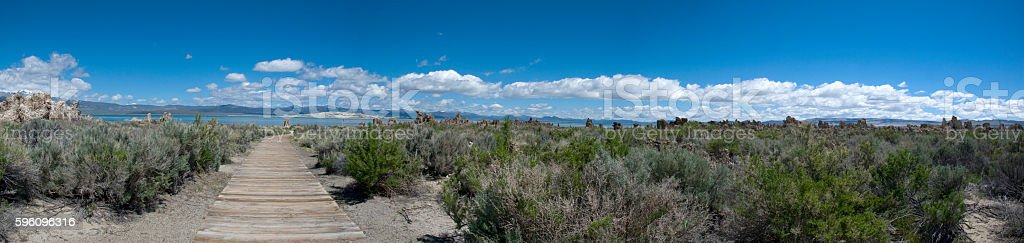 Panorama - landscape surrounding Mono Lake in California Lizenzfreies stock-foto