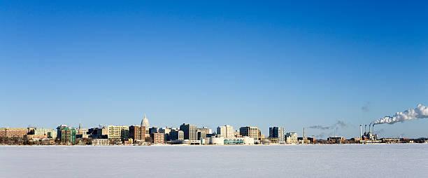 Panorama: Madison Skyline -12ºF stock photo