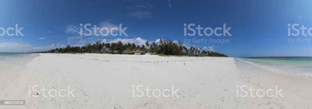Panorama Mchanga Beach, Zanzibar, Indian Ocean, Africa royalty-free 스톡 사진