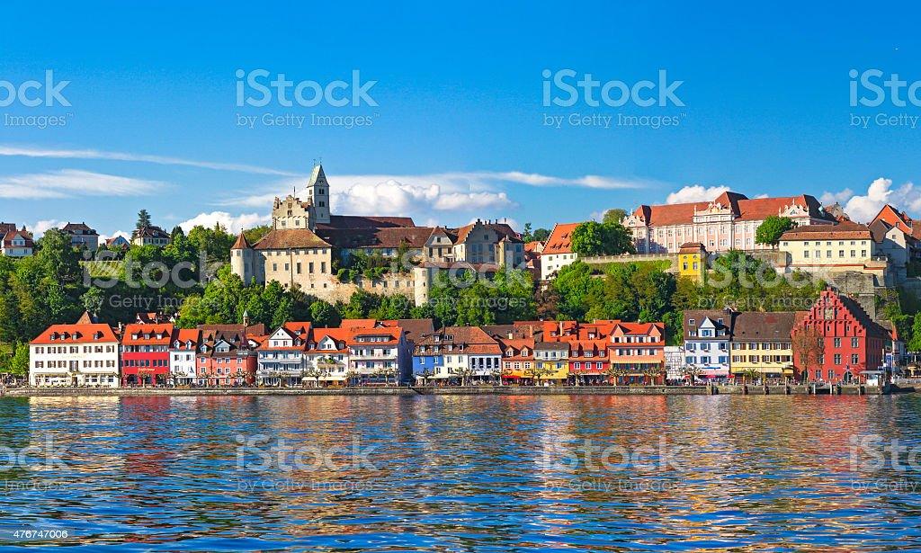 Панорама Meersburg на озеро Constance стоковые фото Стоковая фотография