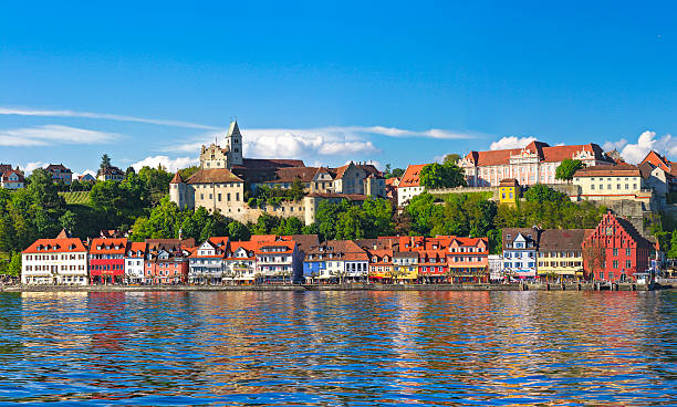 Cтоковое фото Панорама Meersburg на озеро Constance