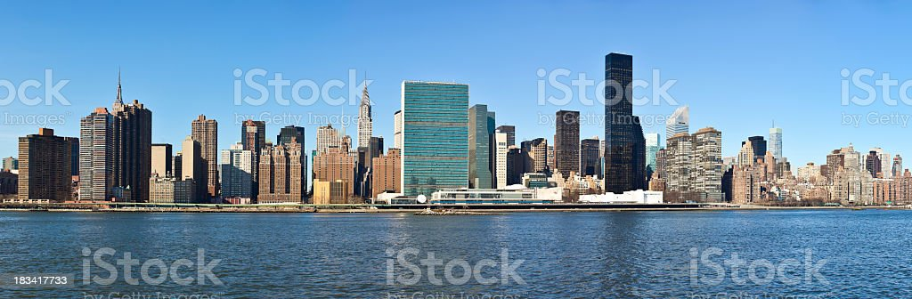 Panorama Midtown Manhattan, NYC royalty-free stock photo