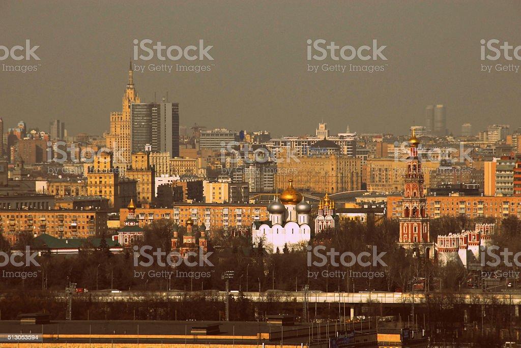 Панорама Москва, Россия-центр. стоковое фото