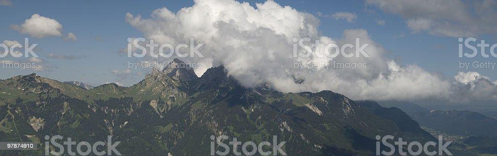 Panorama Mountain view royalty-free stock photo