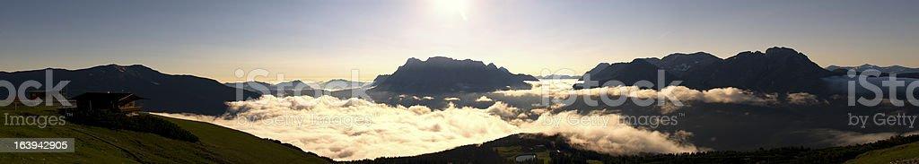XXL Panorama Mountain Zugspitze royalty-free stock photo