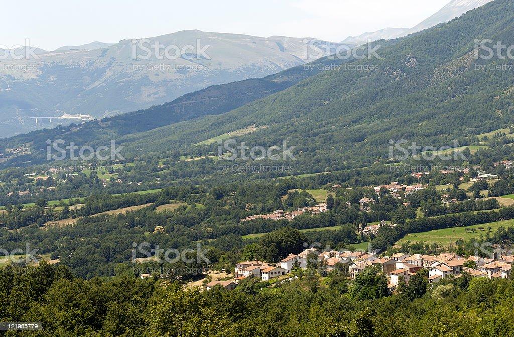 Panorama near Amatrice (Lazio, Italy) stock photo