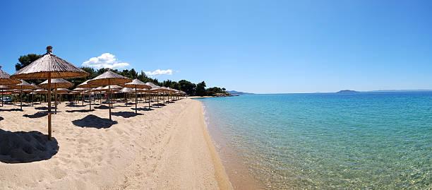 Panorama der Strand und die türkisfarbenen Wasser – Foto