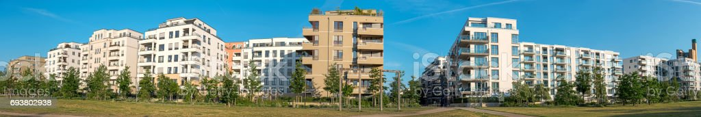 Panorama of a housing development area stock photo
