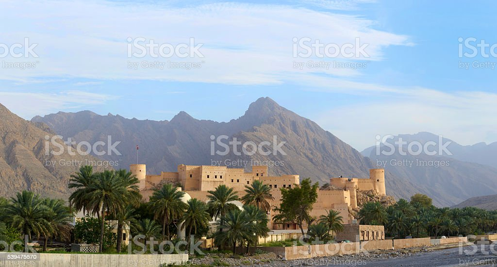 Panorama of a medieval Arabic fortress stock photo