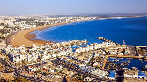 Panorama de Agadir, Marruecos - foto de stock