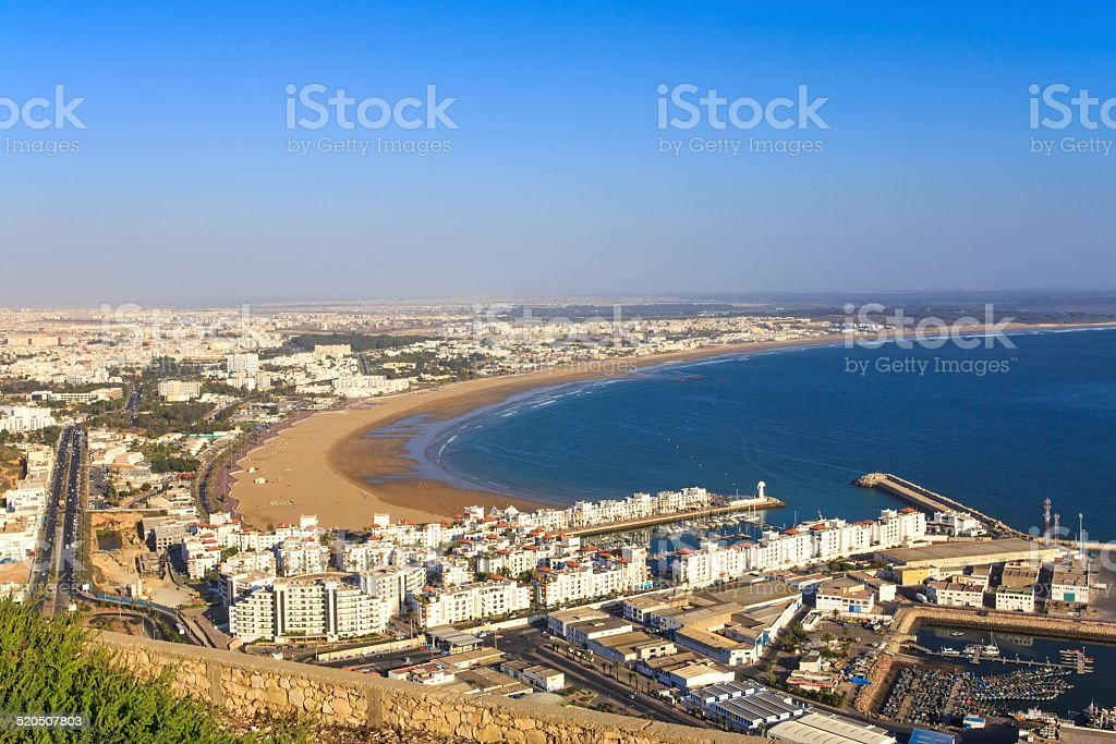 Panorama of Agadir, Morocco stock photo