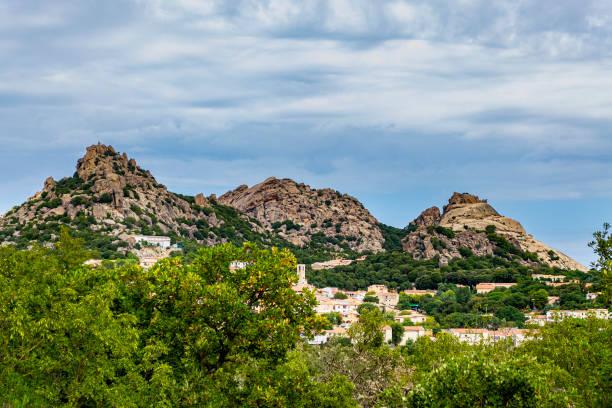 Panorama of Aggius (Sassari, Sardinia, Italy). - foto stock