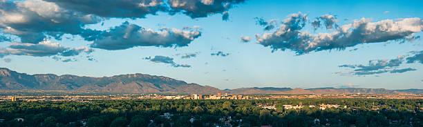 Panorama of Albuquerque, NM stock photo