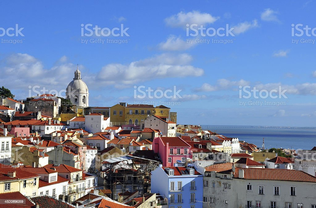 Panorama of Alfama stock photo