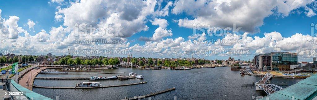 Panorama de Amsterdan - foto de acervo